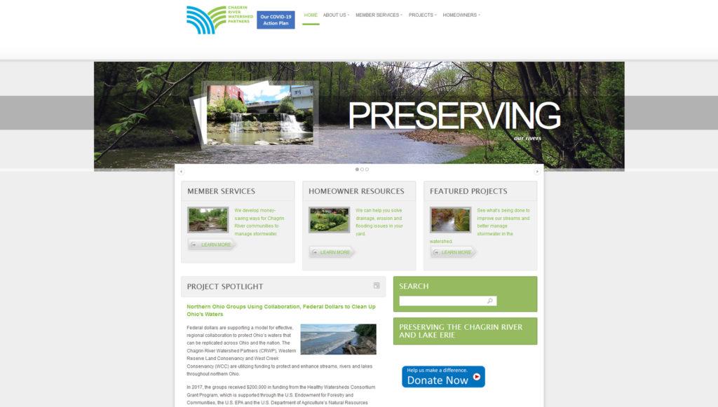 CRWP website preview