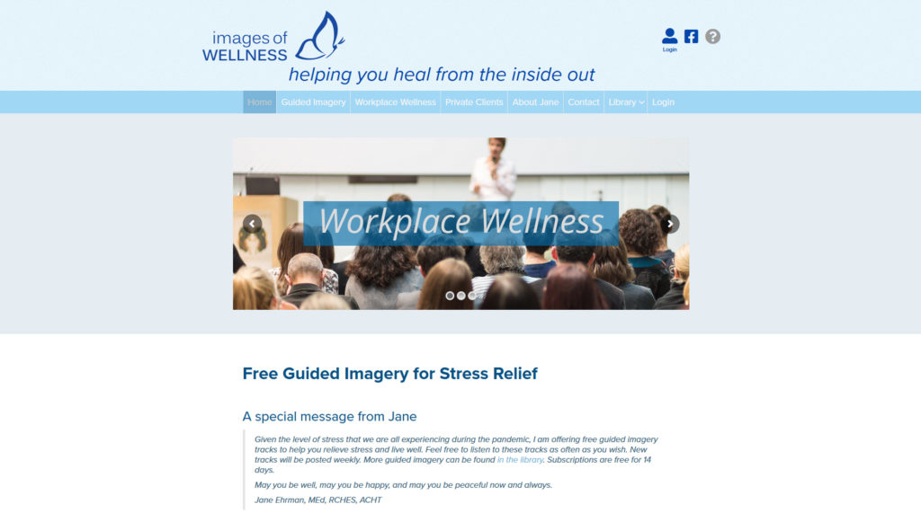 Images of Wellness website preview